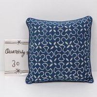 Floral Indigo Printed Cushion Cover