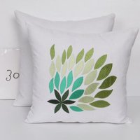 Handmade Embroidered Cotton Cushion Cover