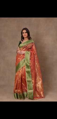 Chanderi hand woven full zari dadidaar border pure silk sarees