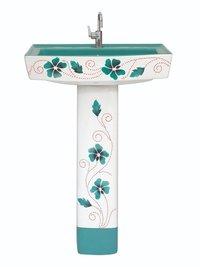 Ceramic Printed Decorative Wash Basin