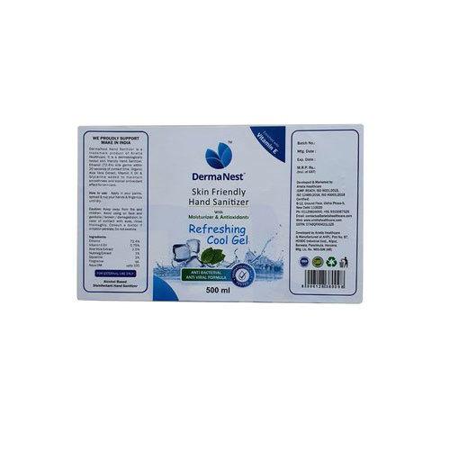 Derma Net Printed Sticker Label