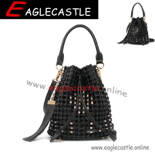 Elegant Fancy PU Party Handbag Bucket Bags Hot Selling Mini Ladies Women shoulder bag