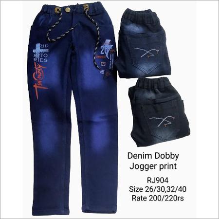 Denim Dobby Jogger Print