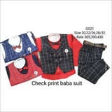 Check Print Baba Suit