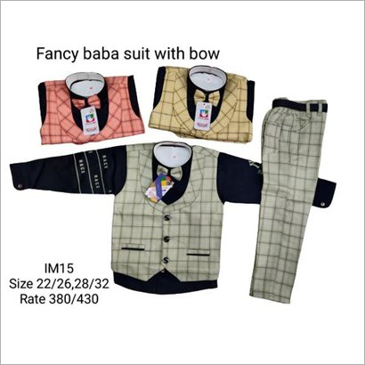 Fancy Baba Suit With Bow