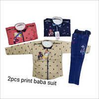 2pcs Print Baba Suit