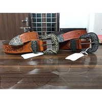 Brown Colour Designer Leather Belt