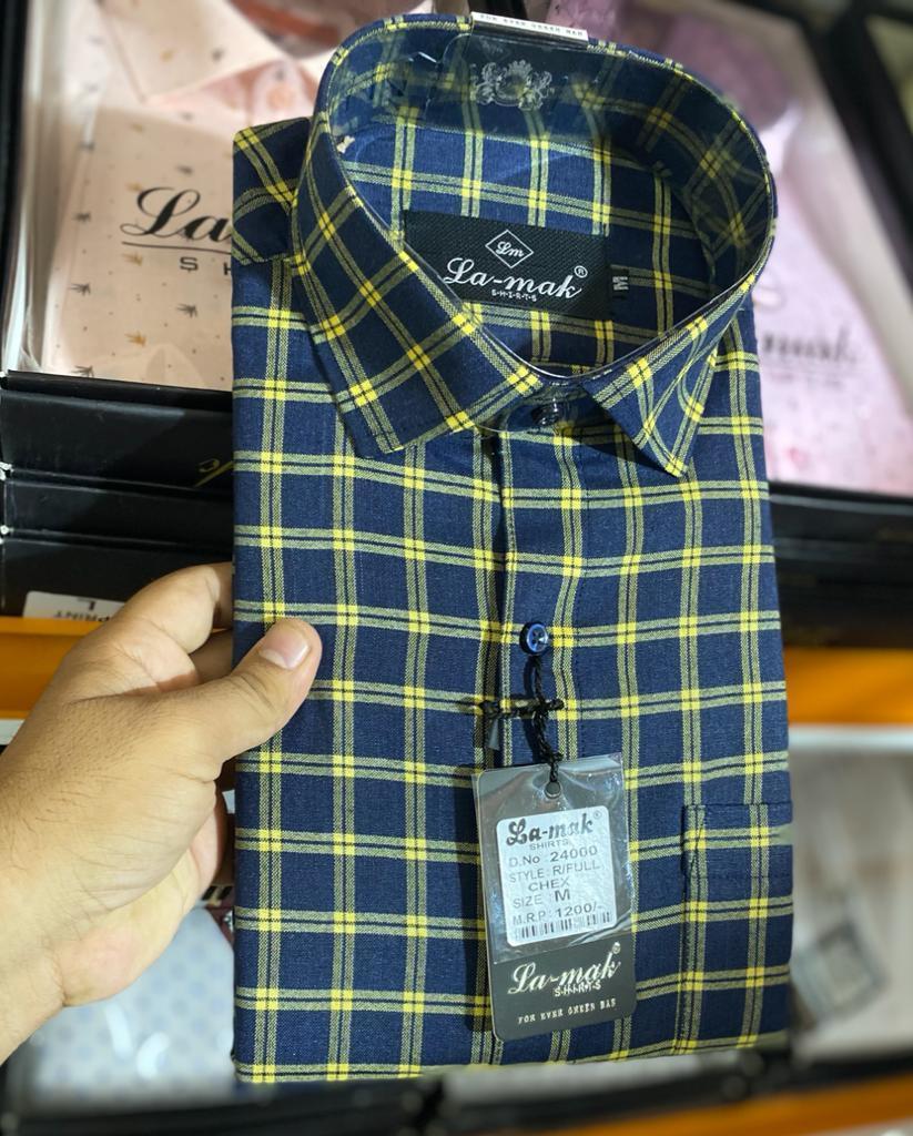 Mens Soft Cotton Check Shirts