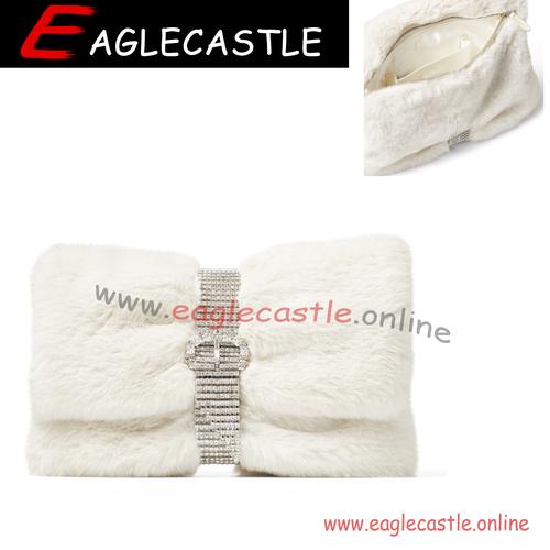2021 Elegant Ladies Fur Envelope Cluth Wrist Bag Autumn and winter plush purses Designers Handbags for Women