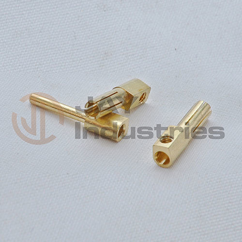 Brass Female Pin with Wire Connector