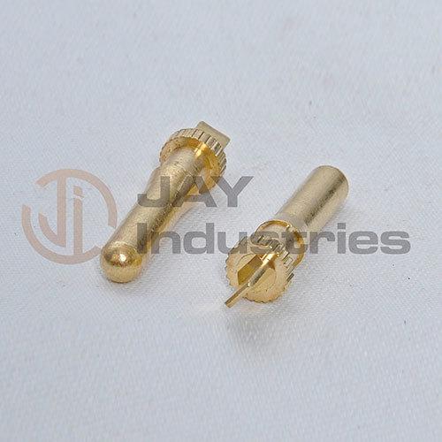 Brass Male Knurled Pin