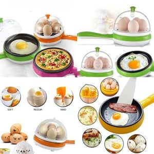 Electric Egg Boiler And Steamer Cum Omelette Frying Pan(Assorted) (Color May Vary)