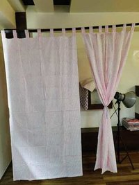 Jaipuri Lining Block Print Handmade Curtain