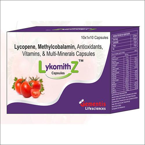 Lycopene Methylcobalamin Antioxidants Vitamins And Multi-Minerals Capsules