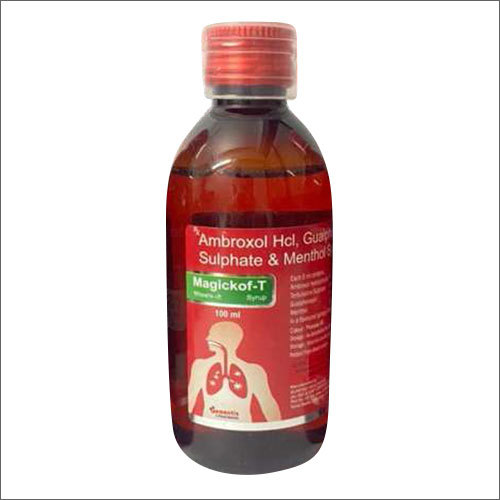 Ambroxol HCI Guaiphenesin Terbutaline Sulphate And Menthol Syrup