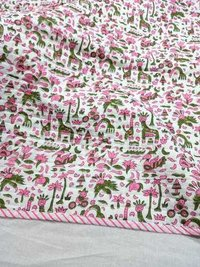 Colorful Birds Print Baby Quilts