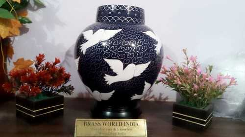 BRASS WHITE BIRD GOING HOME ADULT CREMATION URN FUNERAL SUPPLIES