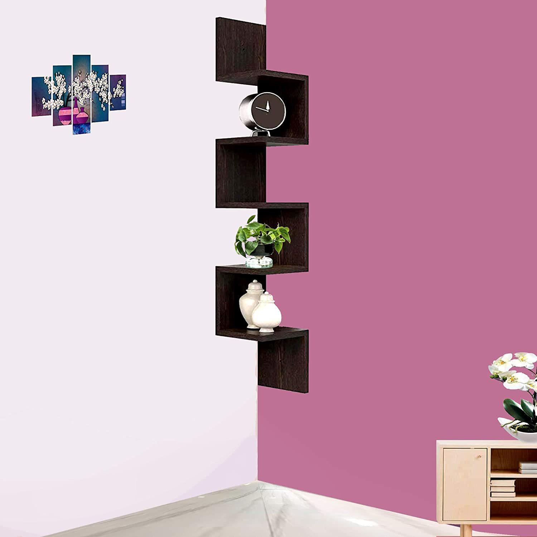 Corner Wooden Wall Shelves