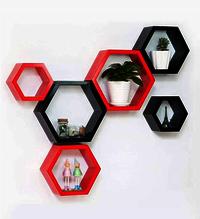 Hexagon Wall Shelves