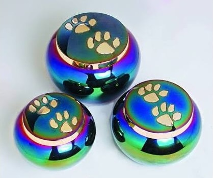 BRASS COLOURFUL PET ODYSSEY PET CREMATION URN FUNERAL SUPPLIES