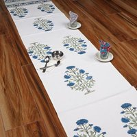 Block Printed Table Runner and Table Cloth