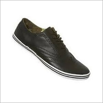 Mens Black Canvas Casual Shoes
