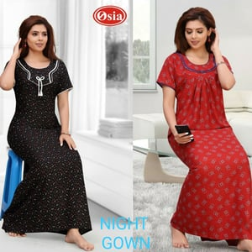 Ladies Printed Night Maxi Dress