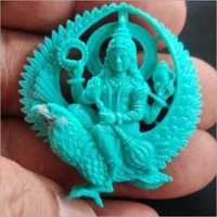 Vishnu Engraved Carved Semiprecious Stone