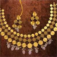 Ladies Designer Gold Necklace Set