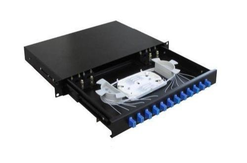 24 Port Sliding Fiber Optic Patch Panel