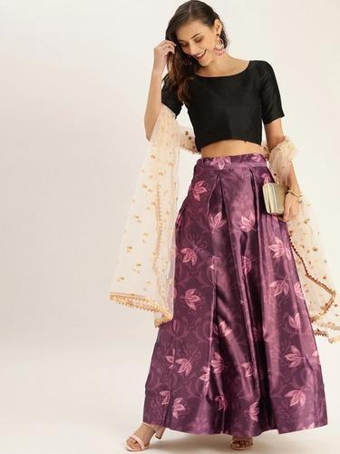 Zari Satin Silk Trendy Lehenga Choli