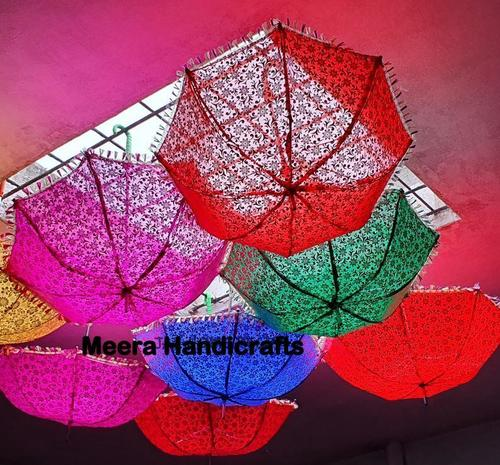 Decorative Hand Printed  Embroidered Umbrella