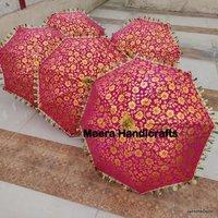 Bright Colorful Embroidered Umbrella