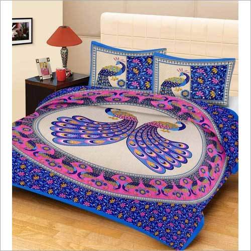 Peacock Design Cotton Bed Sheets