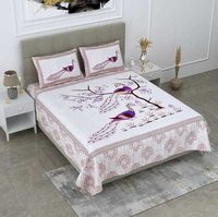 RIMSHA cotton Bed sheet