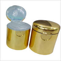 Gold Metallizing Flip Top Cap