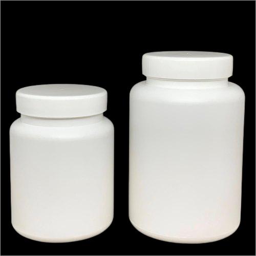 White HDPE Round Wide Mouth Powder Jar