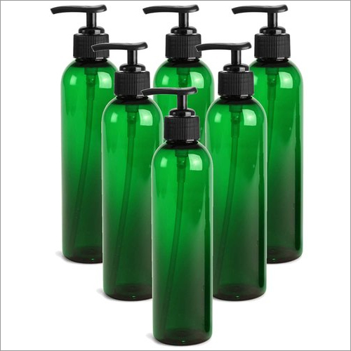 Green Plastic Bottles With Black Lotion Pumps
