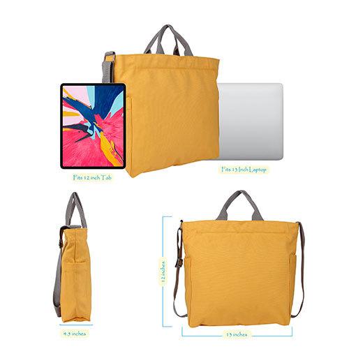 Golden Yellow Crossbody Canvas Bags