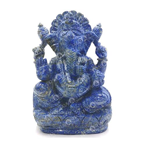 Prayosha Crystals Lapis Lazuli Ganesh idol