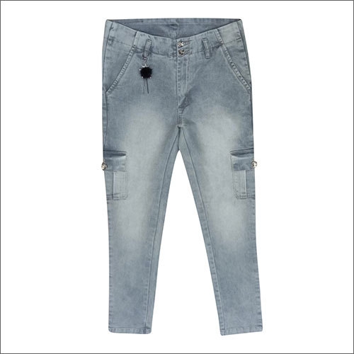 Ladies Denim Cargo Pocket Jeans