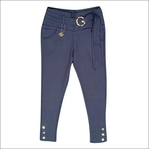 Ladies Belt Design Blue Jeggings
