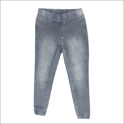 Ladies Plain Denim Jogger Jeans