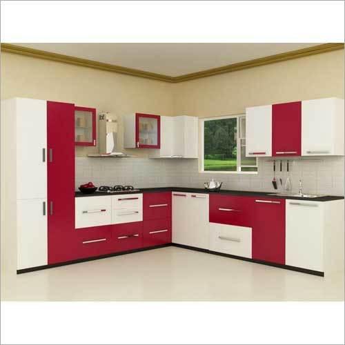 L-Shaped Modular Kitchen Interior Designing Service