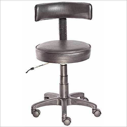 Height Adjustable with Backrest Lab Stool