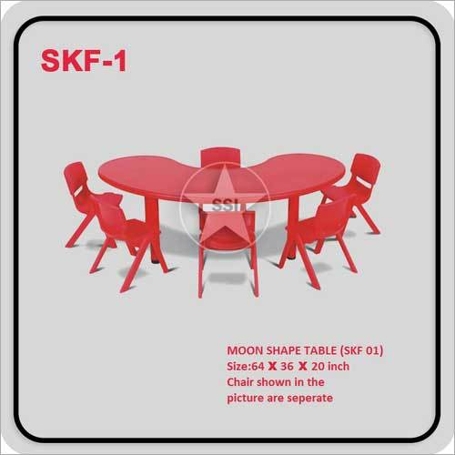 Red Moon Shape Table