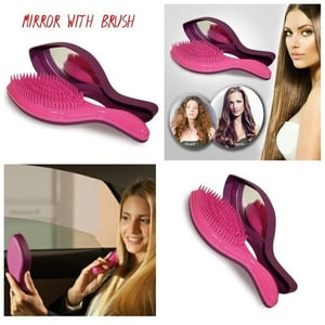 Soft Hair Brush With Mirror