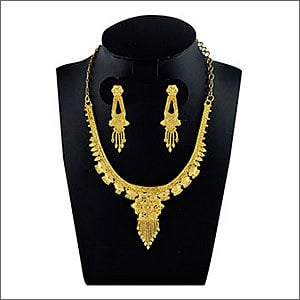Ladies Gold Plated Necklace Set