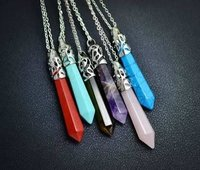 Bullet Point Crystal Necklace