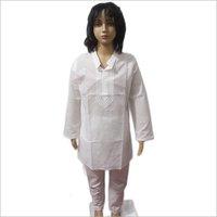Lucknowi White Kurta Pajama Set